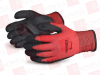 SUPERIOR GLOVE SNTAPVC/M ( (PRICE/DZN) DEXTERITY STRING KNIT RED NYLON / BLACK FLEECE LINED, PVC PALM COATED,SIZE M ) -Image