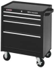 Rolling Cabinet,26 1/2 W,4 Drawer,Black -- 4FNV6