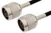 N Male to N Male Cable 36 Inch Length Using RG58 Coax, RoHS -- PE3441LF-36 -Image