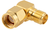 Coaxial Right Angle Adapter, RP-SMA Male / Female -- LCAD30036 -Image