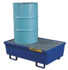 Spill Containment Pallet,2 Drum,Blue -- 4WLW9