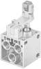 Toggle lever valve with idle return