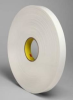 3M 4462 White Foam Mounting Tape - 48 in Width x 72 yd Length - 31 mil Thick - 23732 -- 051115-23732 -- View Larger Image