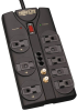 Protect It! 8-Outlet Surge Protector, 8-ft. Cord, 2160 Joules, Tel/Fax/Modem/Coax Protection, RJ11 -- TLP808TELTV