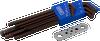9 Pieces Metric Stubby Long Arm Ball S2 Hex Key Set -- 68909SB - Image
