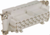16 Pole with Ground Industrial Rectangular Connectors Female Insert -- 29022
