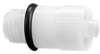 Fisnar A-10001-OT Polypropylene Tip Adapter with O-Ring White -- A-10001-OT -Image