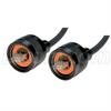 IP68 Cat5e Cable, Ruggedized RJ45, Plug to Plug, ANOD Finish w/ FR-TPE Cable & Dust Caps, 5.0m -- TRD8RG2-05