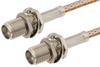 SMA Female Bulkhead to SMA Female Bulkhead Cable 48 Inch Length Using RG316 Coax -- PE33158-48 -Image