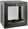 SmartRack 12U Low-Profile Switch-Depth Wall-Mount Rack Enclosure Cabinet with Clear Acrylic Window -- SRW12UG
