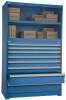 Heavy-Duty Cabinet with Stacking Cabinet, 8 drawers Drawers (48