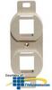 Hubbell 2-Port Stenciled 106 Frames -- BR106XVD - Image
