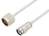 N Male to TNC Male Cable 150 cm Length Using PE-SR402AL Coax -- PE3W05401-150CM -Image