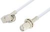SMA Male Right Angle to SMA Female Bulkhead Cable 24 Inch Length Using RG188 Coax, RoHS -- PE3050LF-24 -Image
