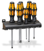 SCREWDRIVER SET 6/PC CHISEL 4-FLAT 2- PHILLIPS WITH WALL MOUNT -- 05018283055