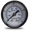 0-200 psi / 0-1400 kPa Pressure Gauge with 1.5 inch mechanical dial -- G15-BD200-8CB - Image