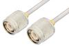 TNC Male to TNC Male Cable 12 Inch Length Using PE-SR402AL Coax -- PE34279-12 -Image