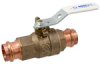 Lead-Free Cast Bronze Ball Valve w/ Copper Press Ends (with Leak Detection) -- PC585-80-LF