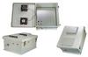 18x16x08 Fiberglass Reinf Polyester FRP Weatherproof Outdoor IP24 NEMA 3R Enclosure, 802.3af PoE MNT PLT, MECH Thermostat 48 VDC Fan Gray -- TEF181608-40FAF -Image