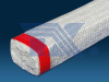 Ceramic fiber rectangular braided rope with surface to be braided with meshes -Image