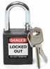 Brady Safety Padlocks (Black) -- 754476-51353