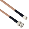 """SMA Male to BNC Male Using Flexible RG400 Coax Cable 12"""" -- MTCA00071-12 -- View Larger Image"""