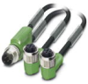 Sensor/Actuator cable - SAC-3P-M12Y/2X0,3-PUR/M12FR - 1668991 -- 1668991