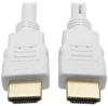 High-Speed HDMI 4K Cable with Digital Video and Audio, Ultra HD 4K x 2K @ 30 Hz (M/M), White, 10 ft. -- P568-010-WH -- View Larger Image