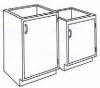 Standard Steel Laboratory Cabinet, Small Door Only -- 100-N Series