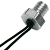 500 Series surface temperature probe, NTC, 50,000 Ohm, ±0,2 °C [0.36 °F] tolerance, 0 °C to 70 °C [32 °F to 158 °F] accuracy, aluminum, threaded body (8-32 UNC-2A), -- 590-33AA33-503