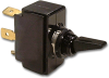Carling 6GC5M-D-2B-B/HDW ASSM Black Nylon Toggle Switch, 15A, SPDT, (On)-Off-(On) -- 44203 - Image