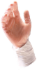 PIP Cleanteam 100-2830 Clear XL Vinyl Disposable Cleanroom Gloves - Class 10 Rating - 11.8 in Length - 616314-02250 -- 616314-02250