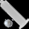 Air Operated Luer Lock Syringe -- 651-103