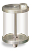 "(Formerly B966-15), Oil Reservoir, 1 qt Acrylic, 1/2"" Male NPT, Pipe Mount -- B966-0324AB1W -- View Larger Image"