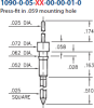Double Tail Header Pin -- 1090-0-05-01-00-00-01-0 - Image