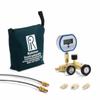 QTCM manifold, 3000 PSIG digital gauge, 20ft, 2ft hoses, (2) 1/4†MNPT process conn., nylon bag -- QTCM-3KPSIG-D