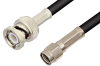 Reverse Polarity SMA Male to BNC Male Cable 24 Inch Length Using RG223 Coax -- PE35217-24 -Image