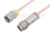 3.5mm Male to 1.85mm Male Cable 24 Inch Length Using RG405 Coax -- PE36535-24 -Image