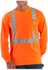 Men's High-Visibility Class 2 Long-Sleeve Work-Dry T-Shirt -- CAR-K233