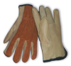 Split Cowhide Back, Grain Palm, Keystone Thumb, Regular Grade, Kevlar(R) Stitched, Rolled Leather Hem, Small -- 616314-08580