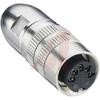 connector,circular din,female locking plug w/shielding,5 contact,ip68 watertight -- 70151283