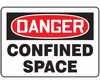MCSP002VP - Safety Sign, Danger - Confined Space, 10