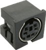 Interconnect > DIN Connectors > Mini Circular > Non-Shielded, Right-Angle PCB -- MD-70S