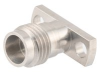 1.85mm Female (Jack) Connector Field Replaceable 2 Hole Flange (Panel Mount) 0.009 inch Pin, .400 inch Hole Spacing with Metal Contact Ring