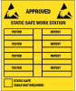 "Label, Yellow/Black 2-1/2"" x 3-1/2""  ""Approved Workstation"" -- 307-2535 -- View Larger Image"