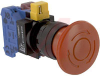 Switch,Emergency Stop,PUSHLOCK TURN RESET, 40MM MUSHROOM, 1NO-1NC -- 70174989 - Image