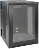 SmartRack 18U Low-Profile Switch-Depth Wall-Mount Rack Enclosure Cabinet with Clear Acrylic Window, Hinged Back -- SRW18USG