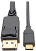 USB-C to DisplayPort Cable, 4K @ 60Hz, Thunderbolt 3, 3 ft. -- U444-003-DP - Image