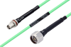 Temperature Conditioned TNC Female Bulkhead to N Male Low Loss Cable 60 Inch Length Using PE-P142LL Coax -- PE3M0167-60 -Image