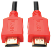 High-Speed HDMI Cable with Digital Video and Audio, Ultra HD 4K x 2K (M/M), Red, 3 ft. -- P568-003-RD -- View Larger Image